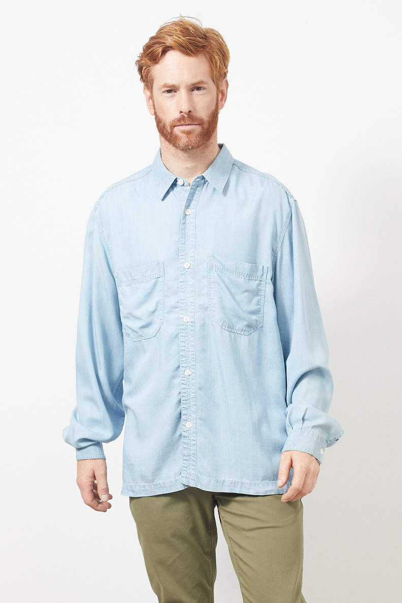 hope over shirt light blue denim